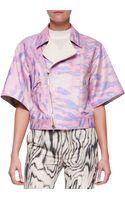 3.1 Phillip Lim Short Kimonosleeve Moto Jacket Pink - Lyst
