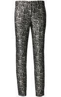 Michael Kors Skinny Samantha Paisley Pants - Lyst