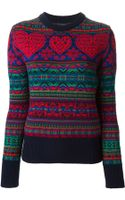 Sibling Heart Jacquard Sweater - Lyst