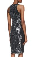 David Meister Sequined Panel Cocktail Dress - Lyst