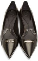 McQ by Alexander McQueen Black Leather Razor Cat Flats - Lyst