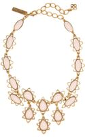 Oscar de la Renta Goldtone Resin Necklace - Lyst