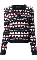 DSquared2 V-Neck Sweater - Lyst