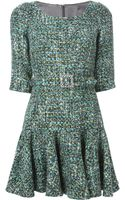 Dolce & Gabbana Belted Boucle Dress - Lyst
