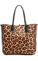 Lauren Merkin Reese Tote with Haircalf Leopard - Lyst