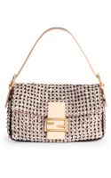 Fendi Beaded Baguette Shoulder Bag - Lyst