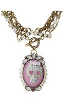 Betsey Johnson Girlie Grunge Skull Beaded Necklace - Lyst