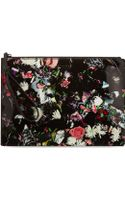 McQ by Alexander McQueen Floral Leather Clutch - Lyst