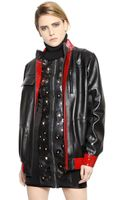 Anthony Vaccarello Patent Nappa Leather Jacket - Lyst
