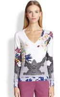 Etro Floral Silk Sweater - Lyst