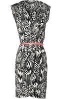 Jane Norman Tribal Patchwork Wrap Front Belted Dress - Lyst