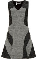 Derek Lam 10 Crosby Twotone Vneck Tweed Dress - Lyst