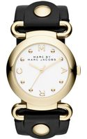Marc By Marc Jacobs Womens Molly Black Leather Strap Watch 36mm - Lyst