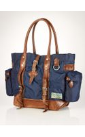 Polo Ralph Lauren Leather-trimmed Nylon Tote - Lyst