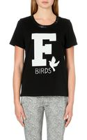 French Connection F Birds Cotton-jersey T-shirt - Lyst