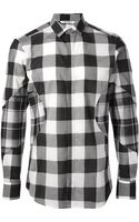 Neil Barrett Check Pattern Shirt - Lyst
