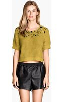 H&M Jumper with Beaded Embroidery - Lyst