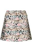 Topshop Flower Jacquard Aline Skirt - Lyst