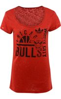 Adidas Womens Chicago Bulls Backwayd Ball Tshirt - Lyst
