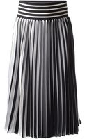 Christopher Kane Pleated Midi Skirt - Lyst