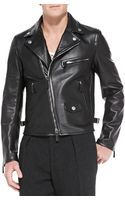 Burberry Prorsum Lambskin Leather Biker Jacket - Lyst