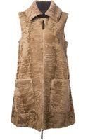 Marni Lamb Fur Panel Vest - Lyst