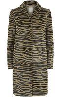 Max Mara Domizia Tiger Print Coat - Lyst
