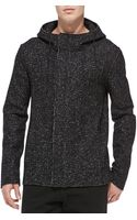 T By Alexander Wang Boucle Fleece Hooded Jacket - Lyst