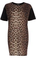 River Island  Animal Print T-Shirt Dress - Lyst