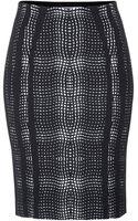 Diane Von Furstenberg Printed Panel Pencil Skirt - Lyst