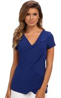 Vince Camuto Ss Tropic Stripe Bandage Top - Lyst