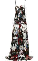 Roberto Cavalli Printed Silkchiffon Gown - Lyst