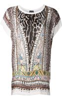Just Cavalli Printed Loose Top - Lyst