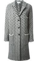 Thom Browne Knit Coat - Lyst