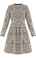 Giambattista Valli Lk6 Ls Monocrome Coat Dress - Lyst