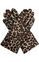 Agnelle Leopard Calf-hair and Leather Gloves - Lyst