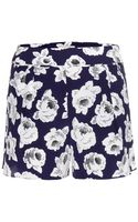 Nina Ricci Printed Silk Shorts - Lyst