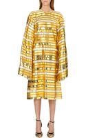 Thom Browne Striped Metallic Dress - Lyst