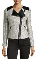 Laundry By Shelli Segal Metallic Tweed Moto Jacket - Lyst