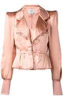 Yves Saint Laurent Vintage Satin Corset Jacket - Lyst