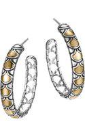 John Hardy Naga Gold Silver Medium Hoop Earrings - Lyst
