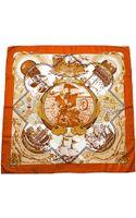 Hermes Au-dela Des Cinq Mers Silk Scarf - Lyst