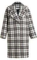 Carven Wool Tartan Oversized Coat - Lyst