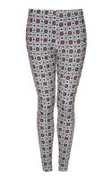 Topshop Tile Print Denim Leggings - Lyst