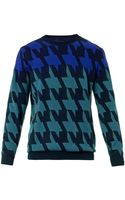 PS by Paul Smith Houndstooth Mohairblend Sweater - Lyst