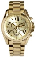 Michael Kors Gold Stainless Steel Bradshaw Chronograph Watch - Lyst