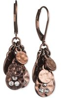 Jones New York Browntone Cluster Leverback Earrings - Lyst