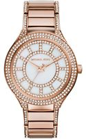 Michael Kors Kerry Pavéembellished Rose Goldtone Watch - Lyst