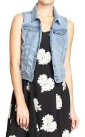 Old Navy Denim Vests - Lyst