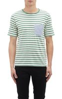 Band Of Outsiders Contrast-pocket Stripe T-shirt - Lyst